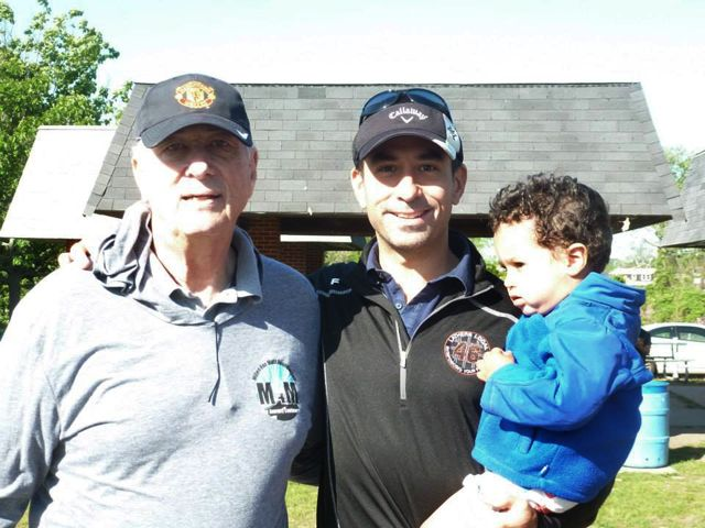 Jim Scarpati with Allen Sofge and son