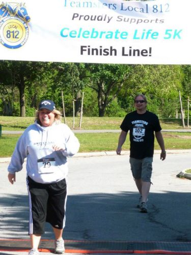 812 Pension Manager Stone and BA Surdi make the finish line