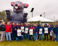 April 25 - Striking members with CWA Local 1108 VP Gendron